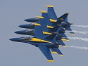 Blue Angels in a tight line. 100-400mm (400mm), 1/500 at f/10.