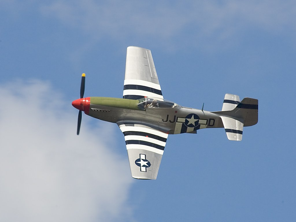 P-51 Mustang, TICO Warbirds Air Show, Titusville, Florida, March 2008.  Click for next photo.