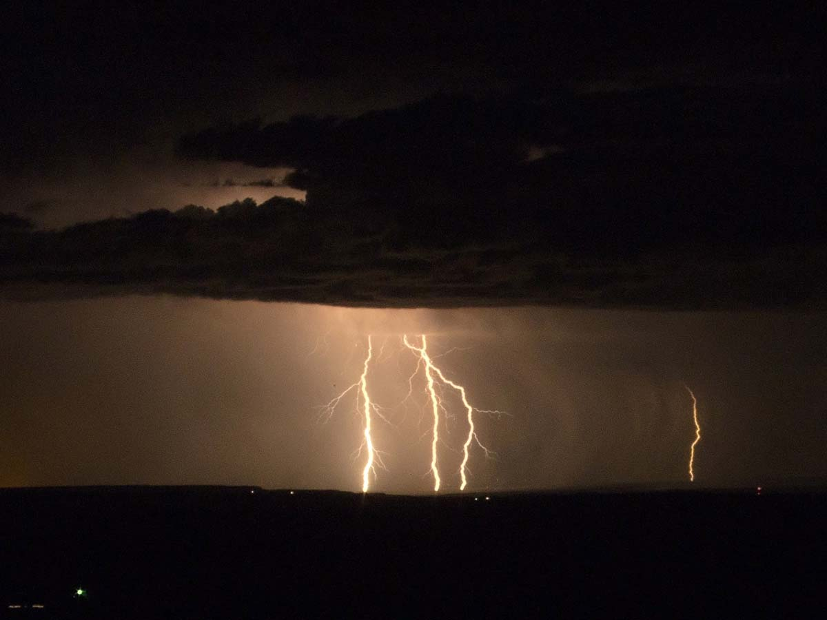 Faraway lightning, Red Lodge, MT, June 2013.  Click for next photo.