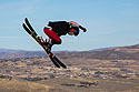 Aerial skiers at U.S. Olympic Training Complex in Park City, UT, October 2016.