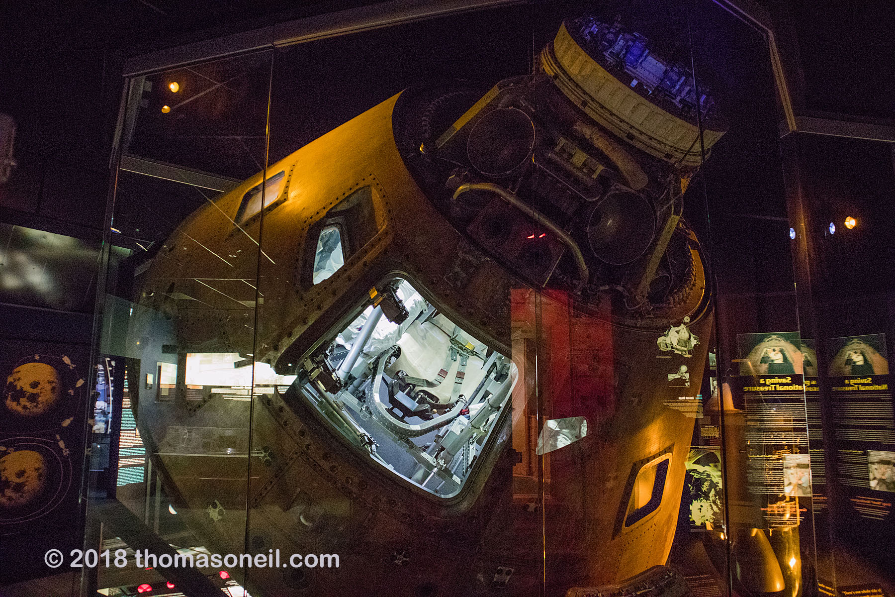 The Apollo 13 capsule in 2018 at the Kansas Cosmosphere.  Click for next photo.