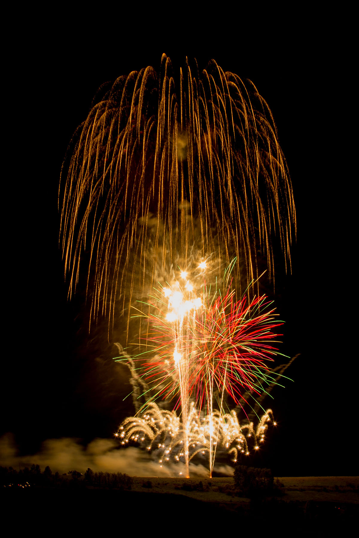 Fireworks, Red Lodge, MT, 4th of July 2019.  Click for next photo.