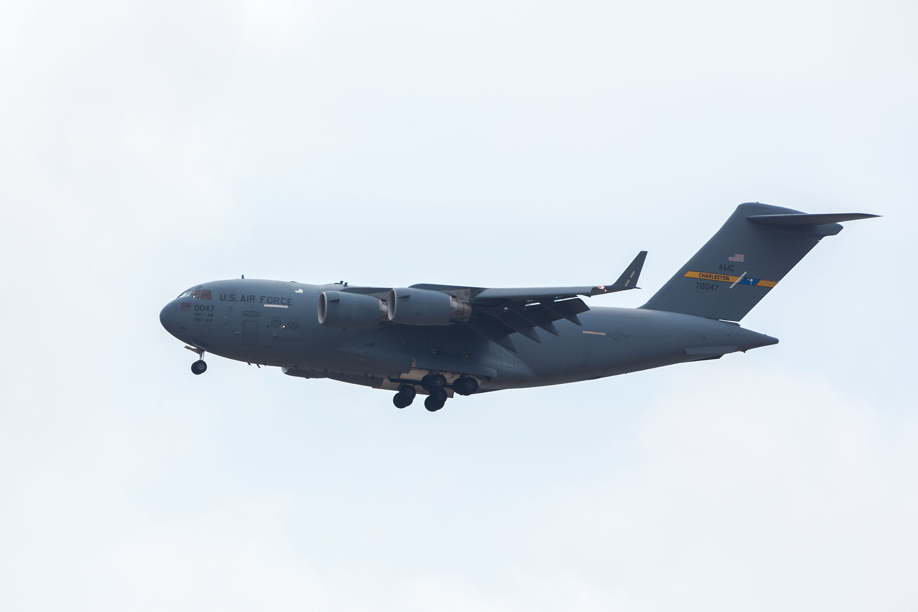 C-17 transport plane, Sioux Falls Air Show, August 2019.  Click for next photo.