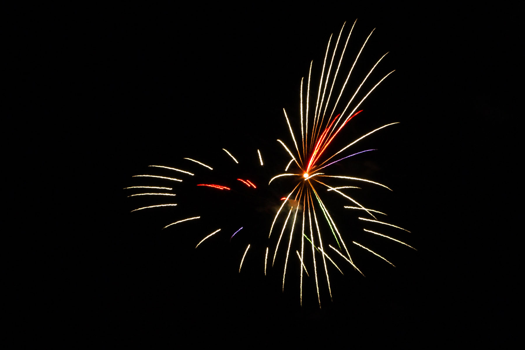 Fireworks, Red Lodge, MT, July 4, 2020.  Click for next photo.